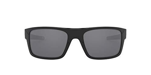 Oakley Drop Point Gafas de Sol, Hombre, Negro (Polished Black/Blackiridium), 61