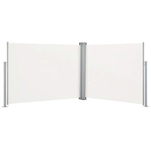FAMIROSA Ausziehbare Seitenmarkise Creme 140 x 1000 cm