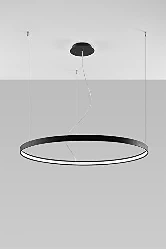 Lampada a sospensione circolare a LED integrata nera 110 cm 3000K Lámpara colgante circular LED integrada Negra 110cm 3000K