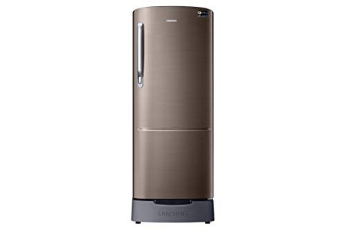 Samsung 215 L 3 Star Inverter Direct-Cool Double Door Refrigerator (RR22T382YDX/HL, Luxe Brown)