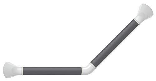 secucare–pr45766sl-mt–Barra de pared plata con tapas ángulo 45°–Blanco Mate–30x 30cm