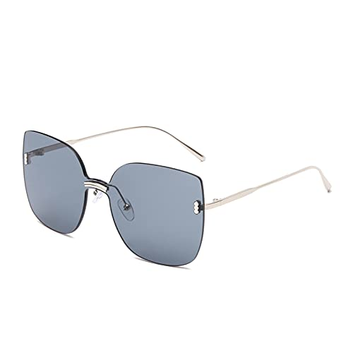 LNSTORE Moda sin llanta Gafas de Sol Señoras de Gran tamaño de Gafas de Sol de Metal de Gato Gafas de Sol Gafas de Sol Espejo de Sombra Decoración Elegante y Hermosa (Color : 04)