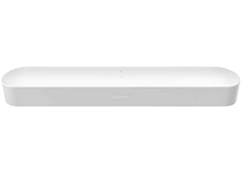 All-new Sonos Beam – Compact Smart TV Sound bar with Amazon Alexa voice control built-in. Wireless Sound System and Music Streaming for your home. (White) (Renewed)