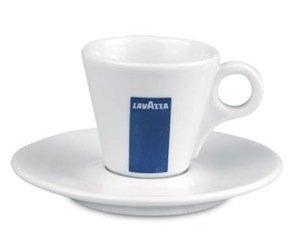 Lavazza Espresso-Tasse mit Untertasse, ca. 57ml, Set mit 12 Tassen und Untertassen