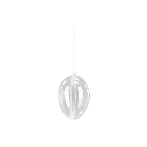 Rayher 3906837 plast-ägg, 2 st, 10 cm ø, kristall