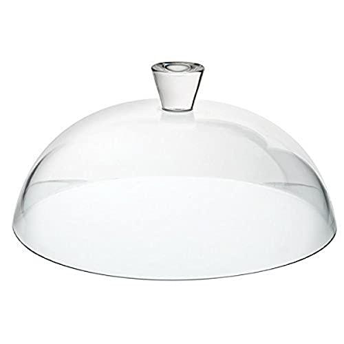 Cupola di torta di vetro da patisserie utopia con manico, trasparente, 32 cm