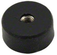Magnet Expert 22 mm de diamètre x 10 mm d'épaisseur de caoutchouc de trou de fil de x M5 enduit Pot Magnet - 3.8 kg de traction (Pack de 1)