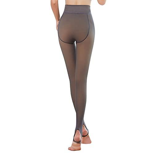 Laonajkd Medias mujer gruesas y cálidas Color sólido Piel similar Leggings cálidos Leggings leggings de color caramelo leggings pisoteando polainas opacas pulidas Otoño Invierno