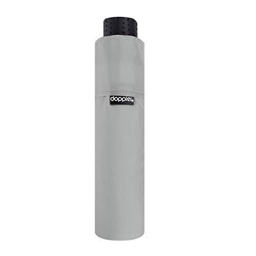 doppler Taschenschirm Fiber Havanna Uni – Super leicht – Kompakte Größe – 22 cm – Shady Grey