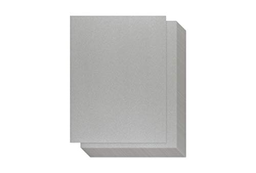 Silver Shimmer Paper - 100-Pack Metallic Cardstock Paper, 92 lb Cover, Double Sided, Printer Friendly - Perfect for Weddings, Birthdays, Craft Use, Letter Size Sheets, 8.5 x 11 Inches