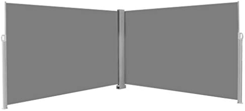 VidaXL Seitenmarkise 200x600cm Grau Sonnenschutz Sichtschutz Windschutz Balkon
