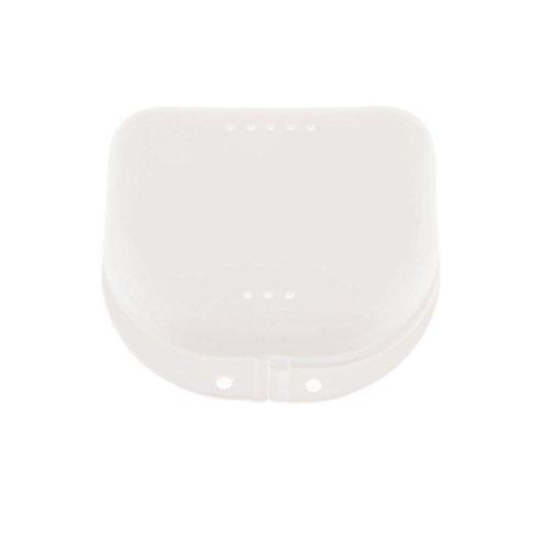 Zahnschutz Doppel-Mundschutz Container mit Luftloch - Weiß