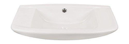 'aquaSu® Handwaschbecken scaLma, 50 cm, Weiß, Waschtisch, Gäste-WC