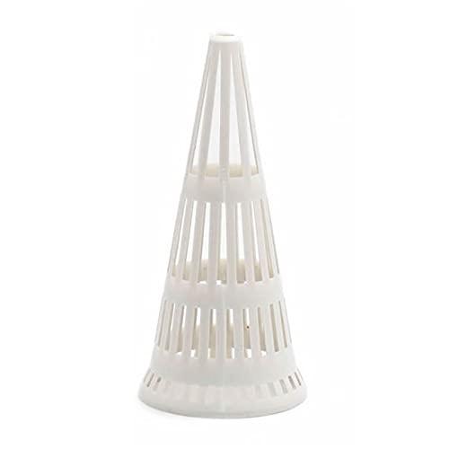 Xiaorong 10 fundas de drenaje reutilizables de plástico para plantas y macetas, con cubierta hidrofóbica de color blanco