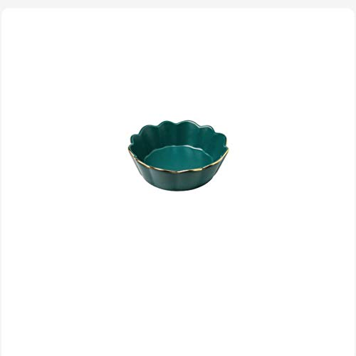 SZQ kom van groene punt, dessert, kom van keramiek, voor restaurant, slakom, ijsalade, 14,8 x 14,8 x 4,7 cm, kom, glad oppervlak