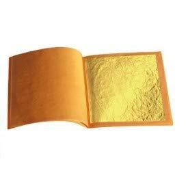 Sim Gold Leaf - Lote de 10 hojas de oro de 24 quilates, calidad profes