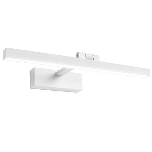 Klighten LED Spiegelleuchte 9W 180° Rotation Badleuchte für Wandbeleuchtung und Badzimmer, Schminklicht Wandleuchte Badlampe, 5500K Weißlicht