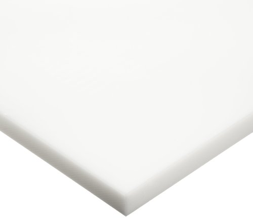 HDPE (High Density Polyethylene) Sheet, Opaque Off-White, Standard Tolerance, ASTM D4976-245, 0.187' Thickness, 12' Width, 24' Length