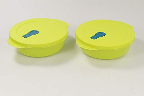 TUPPERWARE CrystalWave Mikrowelle 1,0 L limette Micro Wave Pop Plus Fix (2) 32740