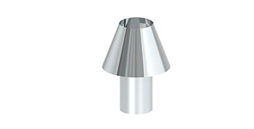 Schornsteinaufsatz - Düsenaufsatz einsteckbar, für einwandige Schornsteine, 300mm Durchmesser, Edelstahl