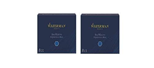 Cartuchos De Tinta Estándar Grandes Waterman Misteriosa Azul (Azul Negro) - 2 x Caja de 8
