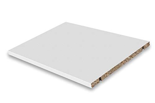 Dekati Einlegeboden für alle Sideboards, Lowboards & Highboards mit Einer Breite 900 cm | Farbe: Weiß | Größe: 43,4 x 31,6 cm | inkl. 4X Bodenträger | Höhe flexibel änderbar