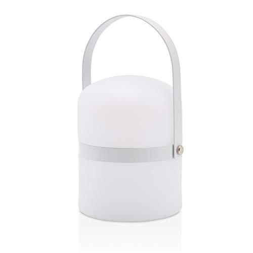 Lampada da tavolo design scandinavo, luce, lampada da giardino a LED per esterni, lanterna, luce a LED, terrazza, lanterna per interni ed esterni, dimmerabile, ricaricabile, porta USB, bianco