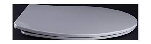 Grünblatt WC Sitz Slim Design Toilettendeckel oval Klodeckel mit Quick-Release-Funktion und Geräuschlose Absenkautomatik, Hochwertige Antibakterielle Duroplast (Manhattan Grau)