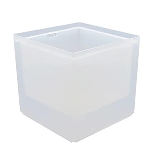 Feixunfan Cubo de hielo LED de doble capa cuadrado cubo de hielo bar vino hielo bar bar al aire libre cubo de hielo para bebidas fiesta (color: blanco, tamaño: talla única)