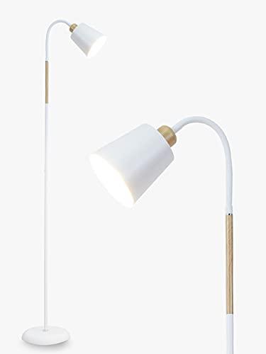Lámpara de pie blanca Anten VILI   Lámpara de pie giratoria casquillo...