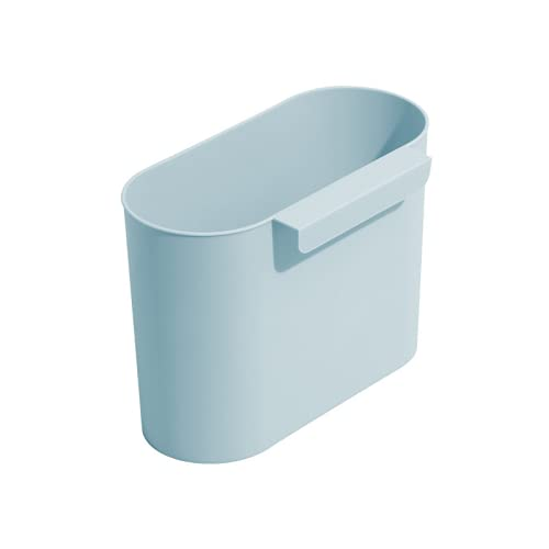 RUONING Cubos De Basura Plegable Colgando,Bote De Basura Colgante Basurero Extraible para La Cocina, Dormitorio Y Coche Azul 4L