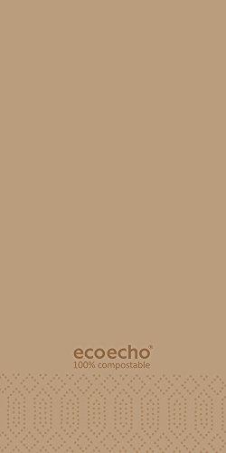 Duni 178652 2 plis Serviettes en papier, 40 cm x 40 cm, pliée, 1/8 plis, ECO Echo (lot de 1500)