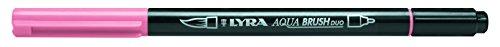 LYRA Aqua Brush Duo Rotulador acuarelable, Doble Punta, Rosa carmín, Karminrosa