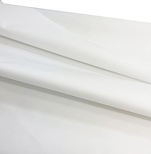Mybecca Canvas Marine Fabric 600 Denier Indoor/Outdoor White 1 Yard (36' x...