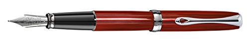 DIPLOMAT - Füllhalter Excellence A2 Skyline rot - Schick und elegant - Lange Lebensdauer - Funkelndes Rot