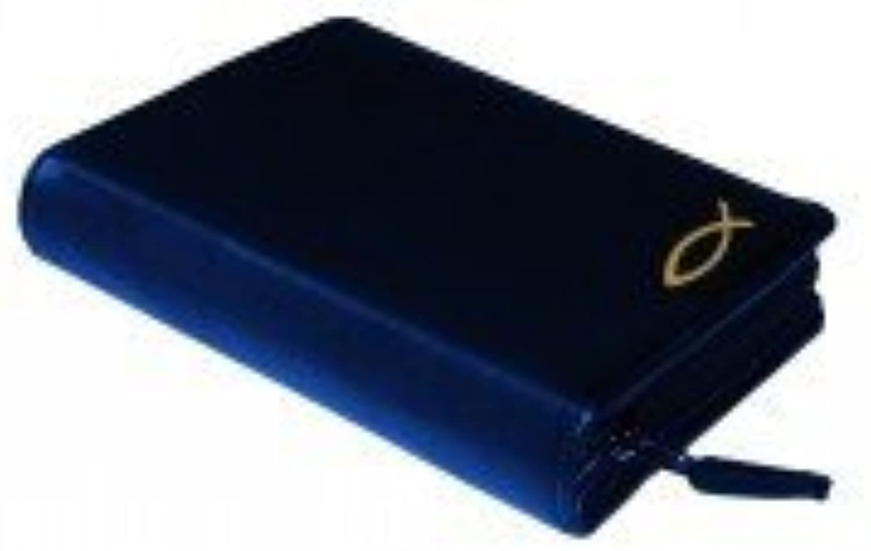 Gotteslobhülle Rindsleder DELUXE mit Motivprägung blau B00IKLX23I | Elegantes und robustes Menü