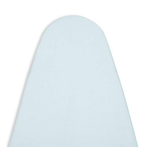 ENCASA Homes Replacement Ironing Board Cover with Extra Thick Pad, Plain Colors, Elasticated, (Fits Standard Large Boards of 15 x 54 inch) Heat Reflective, Scorch Resistant, Heavy Duty - Ice Blue