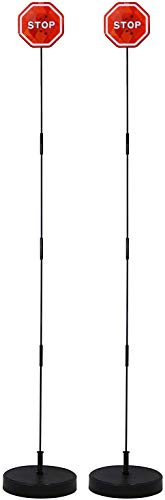 Ekarro Garage Parking Assist Led Flashing Garage Parking Sensor Perfect Target Indicator with Adjustable Height Guide Helper to Park All Vehicles No Hitting Walls Parking Flashlight System Pack of 2