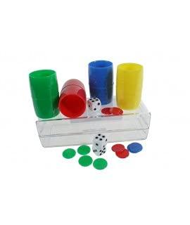 CAL FUSTER - Fichas de Juego parchís para 4 Jugadores.Medidas:4x18x5 cm.