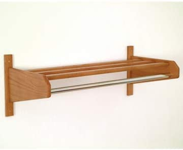 PalaceDesigns New Orleans Mall 32 in. Oak Coat Rack in At the price of surprise Medium and Hat