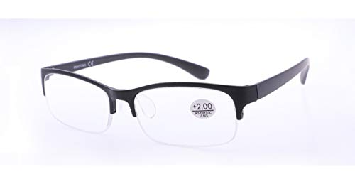 LEMON TREE SL Gafas Lectura Cristales AL Aire. Gafas Presbicia PANTONA, Gafas Vista Cansada, Cristal al Aire, Juveniles, Gafas de Moda, Gafas para la Vista 6 Colores y 7 graduaciones. Montura Negra