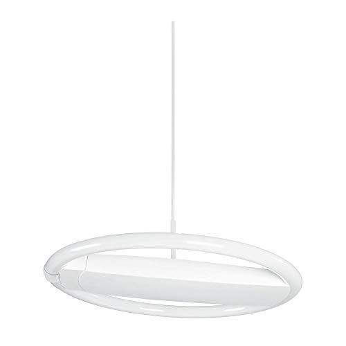 Voltolux 14020038-BA Pendellampe Deckenlampe 40W 1xT9 Ringröhre Weiß inkl. Leuchtmittel