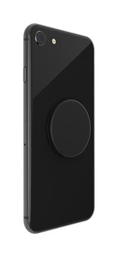 PopSockets PopGrip - Soporte y Agarre para Teléfonos Móviles y Tablets con un PopTop Intercambiable, Negro