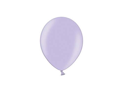 Les Colis Noirs LCN - Lot de 10 Ballon Métallique 23cm - Glycine - Décoration Fête Mariage - 482