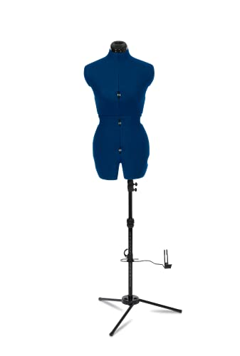 Adjustoform Sew Deluxe 8 Part Adjustable Dress Form, Sapphire Blue Nylon Fabric, Small (UK Size 10-16)