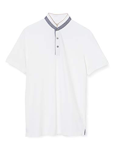 bugatti Herren 8150-55003 Poloshirt, Weiß (Weiss 010), Small