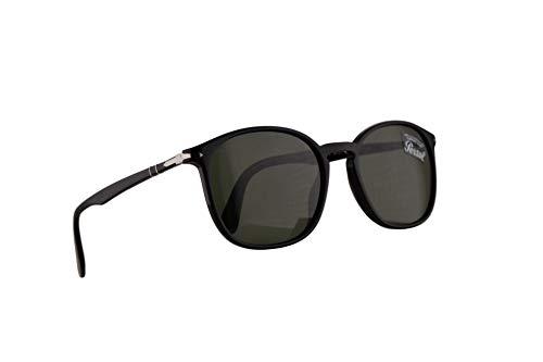 Persol 3215-S Sonnenbrille Schwarz Mit Grünem Gläsern 57mm 9531 3215S PO3215S PO3215-S