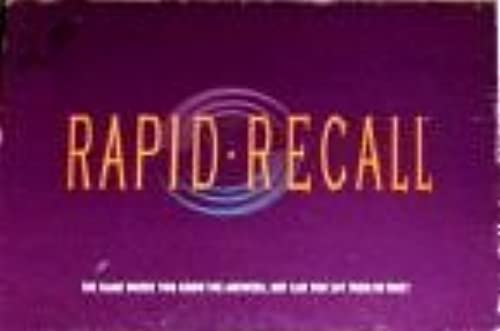 Rapid Recall Board Game