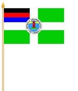 FRIP –Versand Stockfahne Borkum Insel Fahne Flagge Grösse 30x40cm