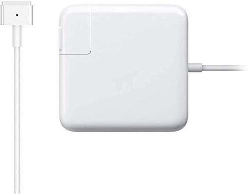 Mac Book Air Charger, 45W T-Tip AC Magsafe 2 Power Adapter Charger for MacBook Air 11-Inch and 13-Inch (for MacBook Air Released After Mid 2012) White